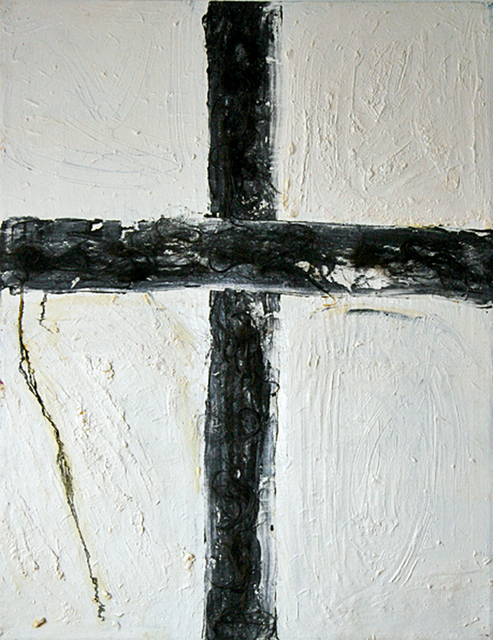 Jill Joy - Cross - mixed media on canvas - 44x34 - 1998.jpg