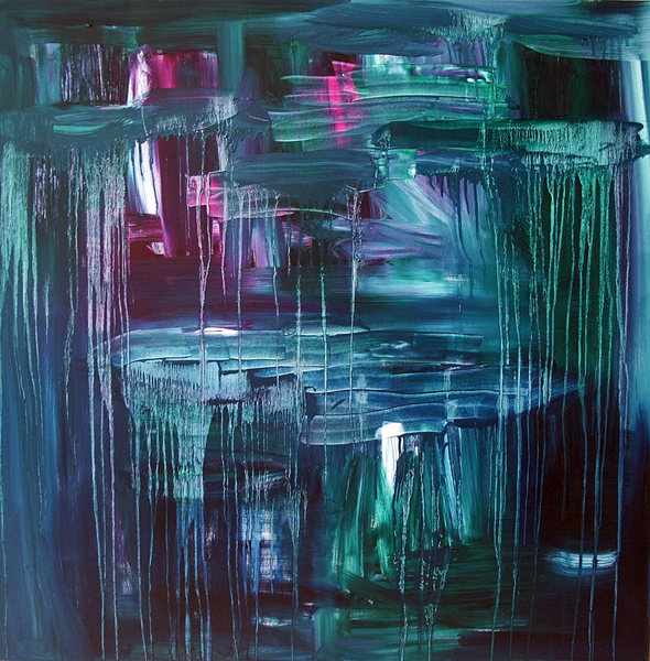Jill Joy - The Color of Heartbreak - oil on canvas - 48x48 - 2010
