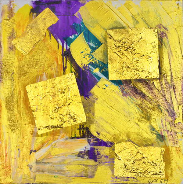 "Jill Joy, Dreaming Love, mixed media on canvas, 20x20"", 2007"
