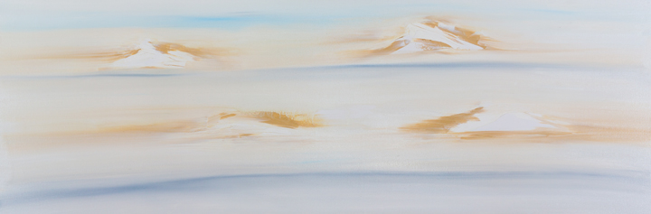 "Jill Joy - Zen Mountain - oil on canvas - 20x60"" - 2016 