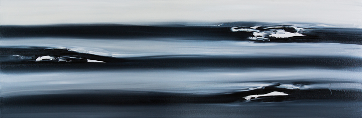 "Jill Joy - All Things Must Pass - oil on canvas - 20x60"" - 2016 