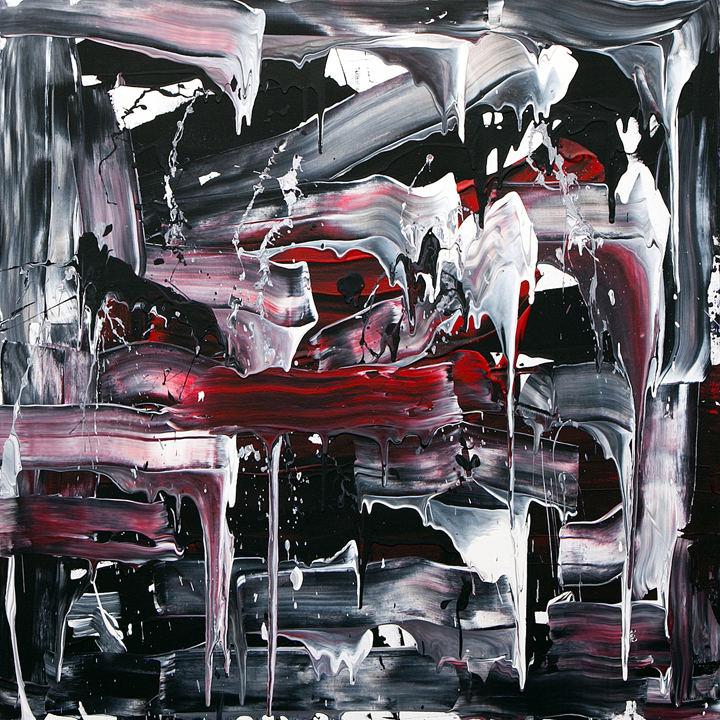 "Jill Joy -  Not Black and White  - acrylic on canvas - 36x36"" - 2015 