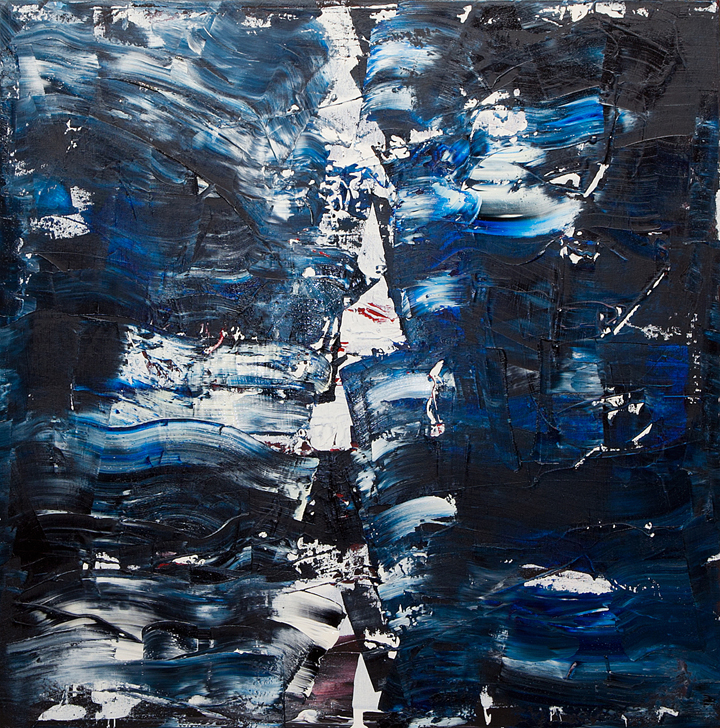 "Jill Joy -  Divertere  - oil on canvas - 36x36"" - 2015 
