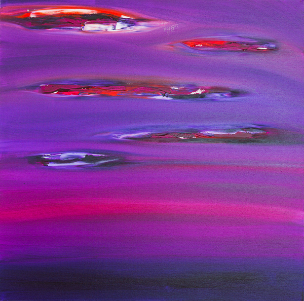 "Jill Joy - Purple Sky - oil on canvas - 36x36"" - 2015 