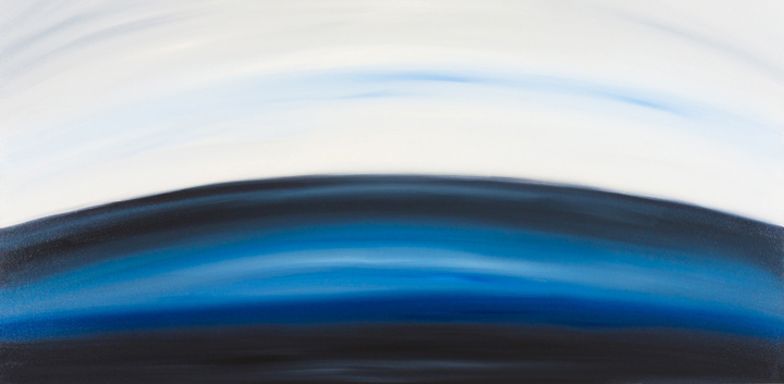 "Jill Joy - Blue Pulse - oil on canvas - 20x40"" - 2014 
