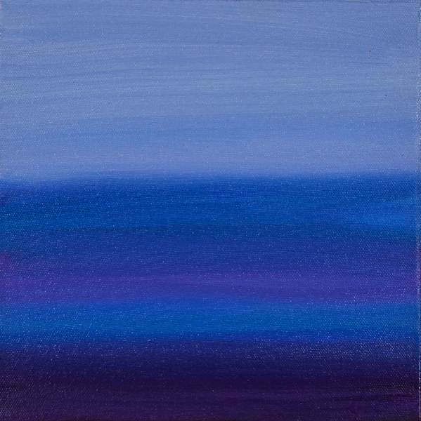 "Jill Joy - Blue Solace - oil on canvas - 10x10"" - 2014 