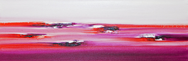 "Jill Joy - Magenta Sky - oil on canvas - 24x48"" - 2015 