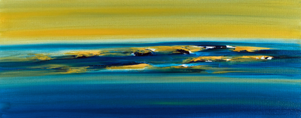 Jill Joy - Loss of Hope (freedom) - oil on canvas - 12x30 | $1,900 SOLD