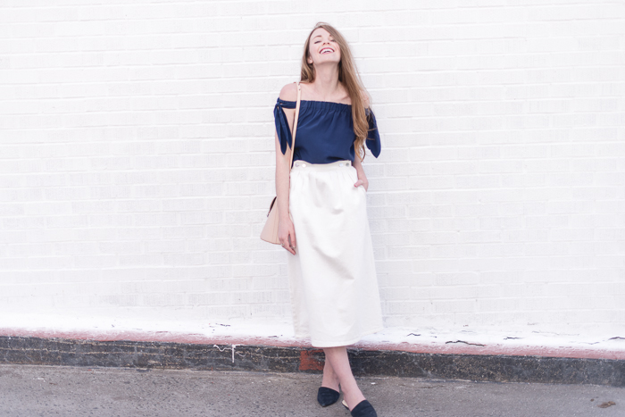 Top & Skirt: Club Monaco (from past season)