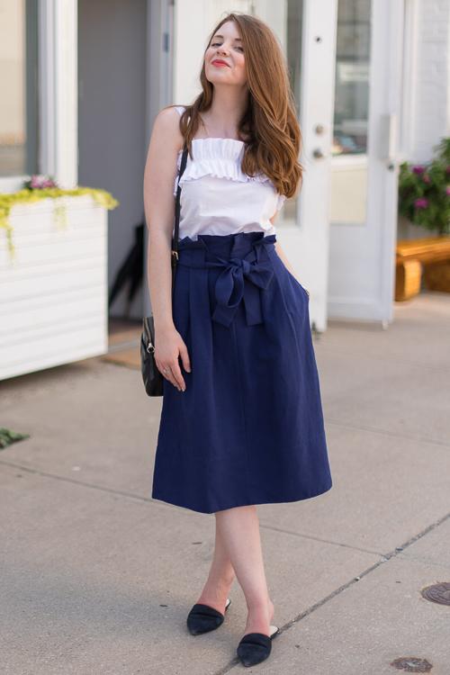 Top: Amanda Uprichard (new) Skirt: Club Manaco (new)