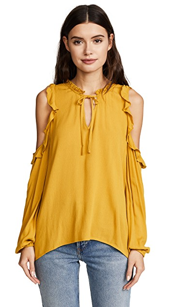 A little outside your style—but I think it would look great on you, the colour and the shoulder/keyhole detail might be fun