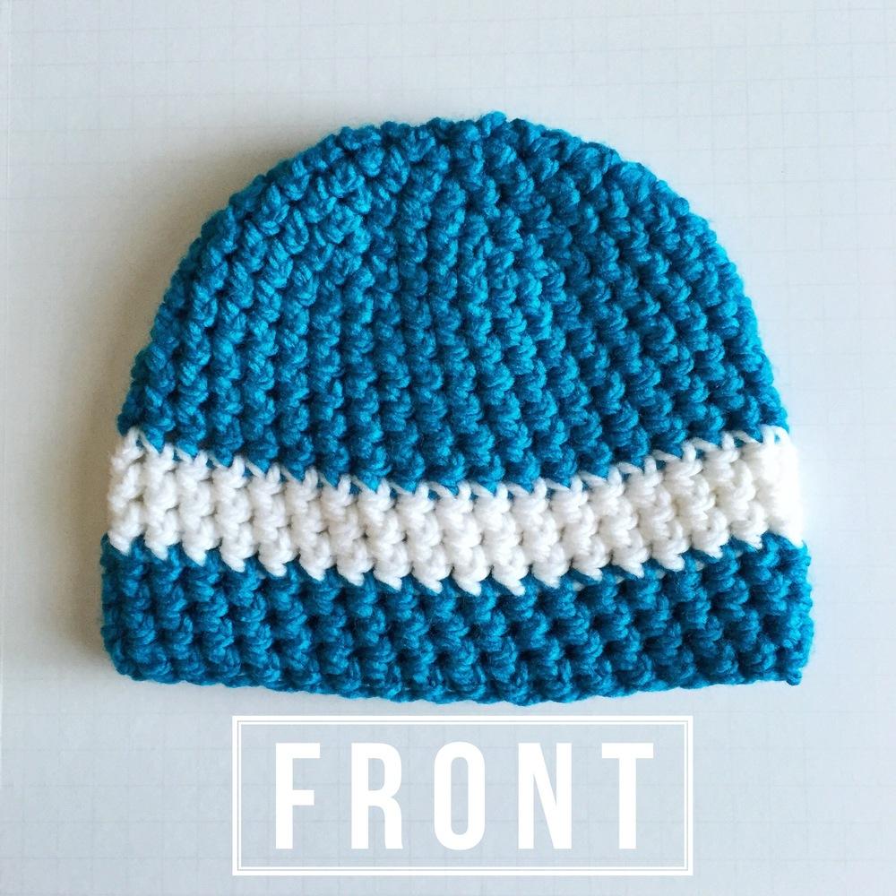 Sapphire Chunky Stripe Beanie Crochet Pattern — Denver Whimsy Crochet