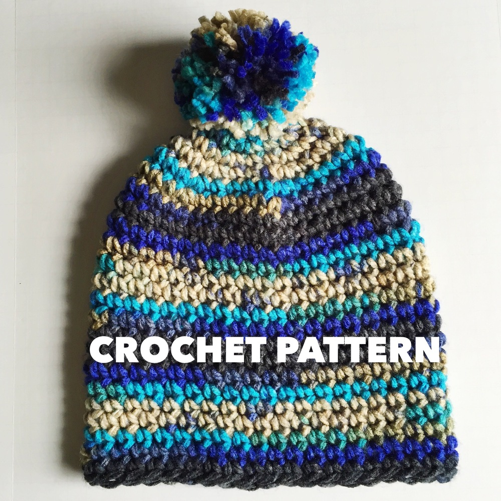 Blueberry Smoothie Chunky Slouchy Beanie Crochet Pattern — Denver ...