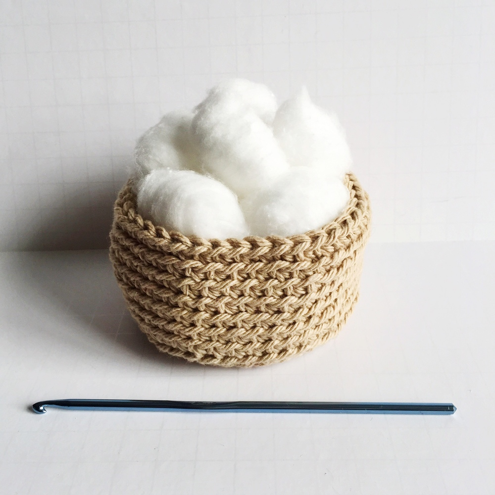 cotton ball holder crochet pattern