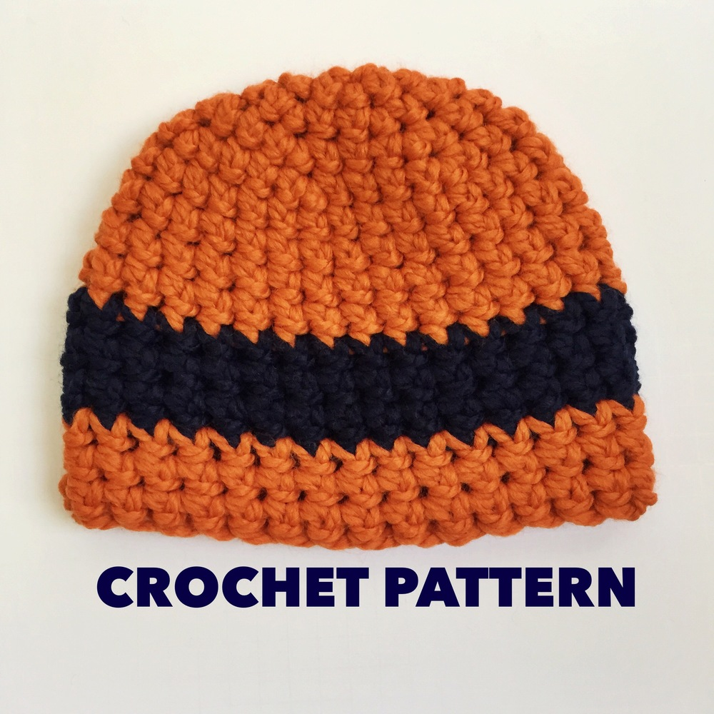 Sports Fan Beanie Crochet Pattern