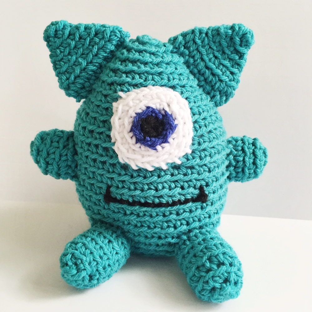 Terbert the Monster Amigurumi Crochet Pattern