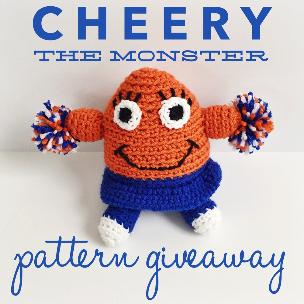 Cheery the monster pattern giveaway