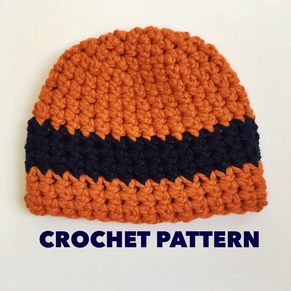 Get 50% off the Sports Fan Beanie Crochet Pattern today only!