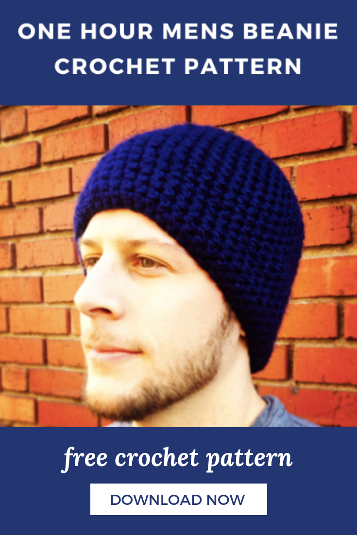 beanie crochet pattern for men