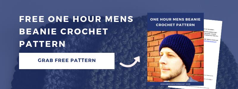 free one hour mens beanie crochet pattern