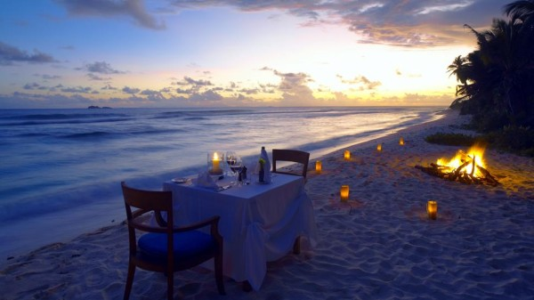 Waterbar recreated a romantic Seychelles beachfront dinner for a Santa Fe couple last week.