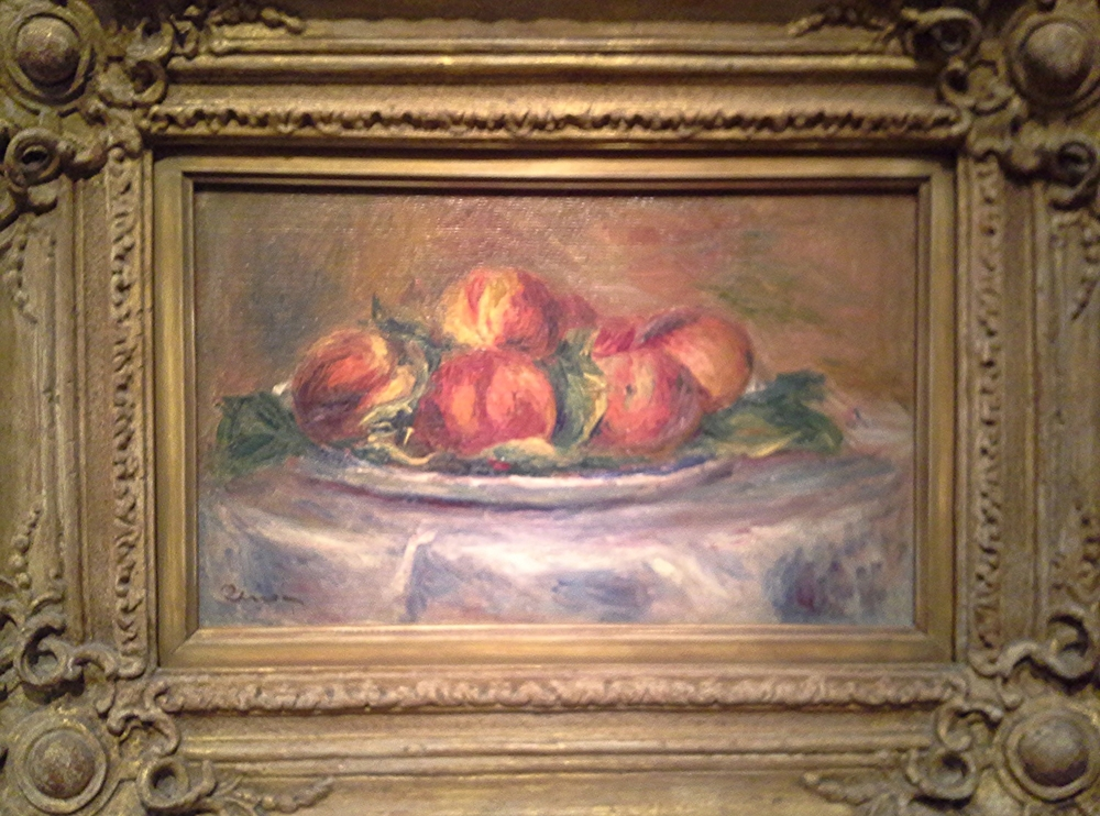 "Renoir's ""Peaches"". Impressionists happen to be at the Legion of Honor just as our peach season was coming to an end. Perfect timing."