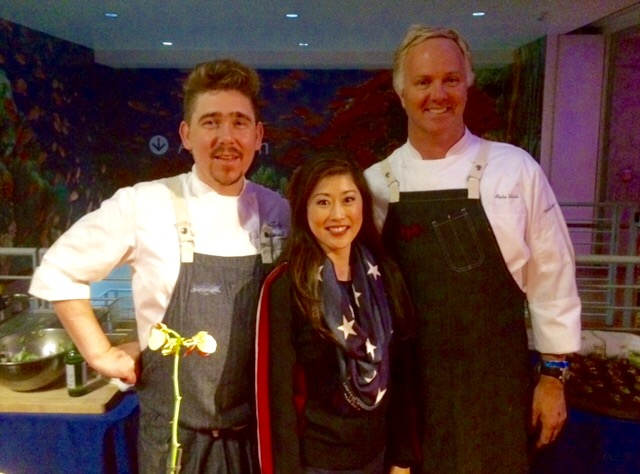 Chef de Cuisine Justin Baade, Kristi Yamaguchi and Executive Chef Parke Ulrich at this years Always Dream Foundations Red, White and Blue Ball.