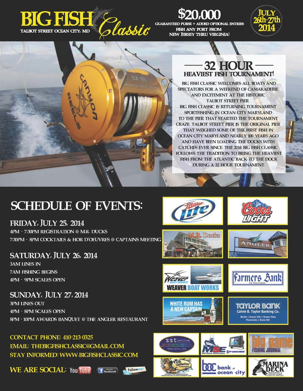 Check out our new tournament brochure online 2017 huk for Big fish classic