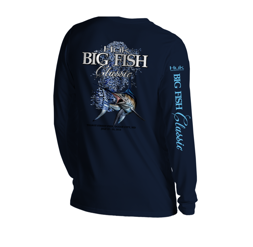 Mens Long Sleeve Tee Navy