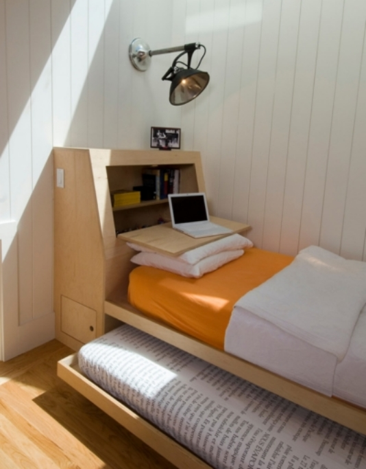 6. Trundles are great for turning a guest twin bed into a quick double.