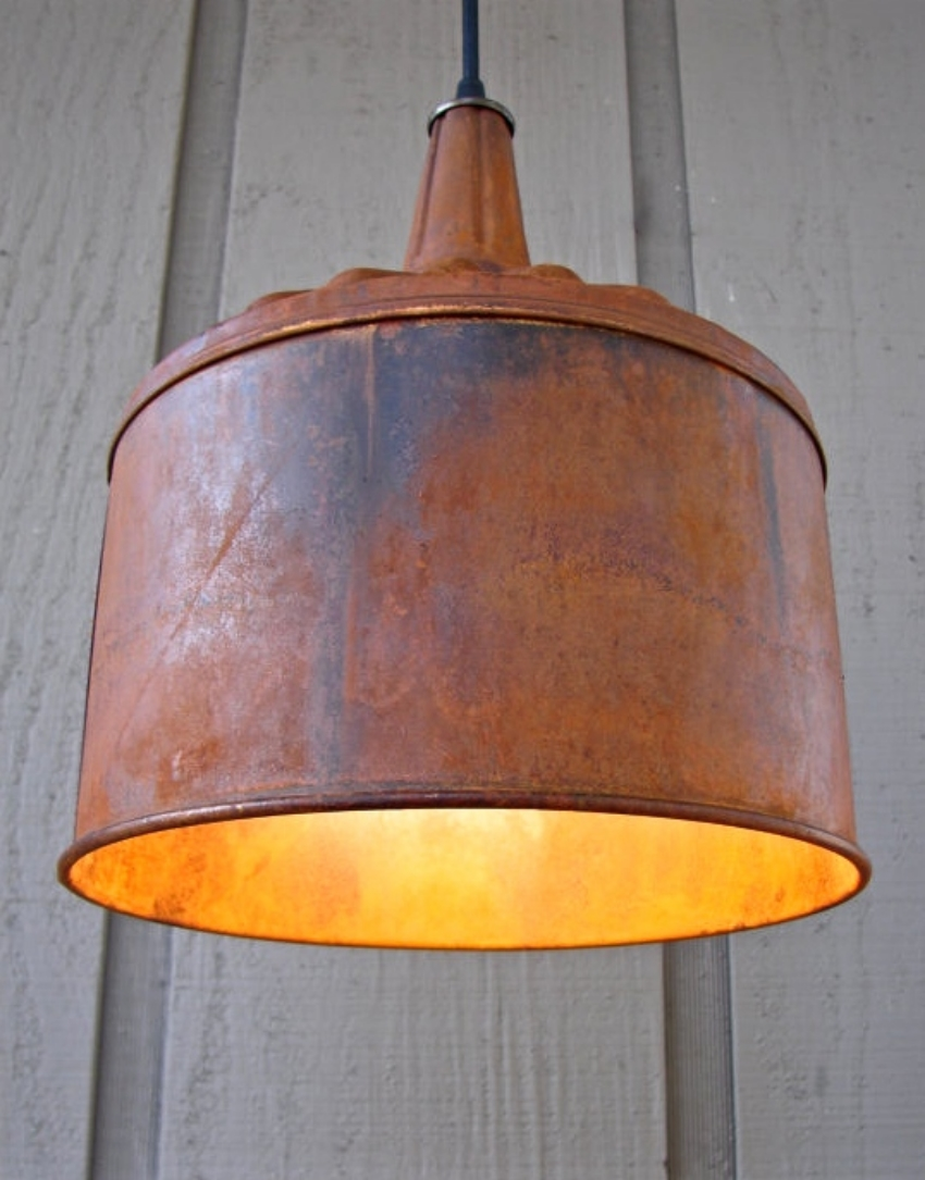 9. Etsy shop: Benclif Designs $105  Upcycled farm funnel