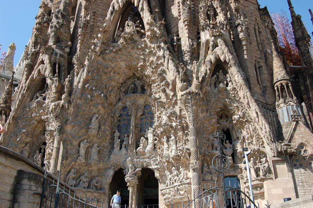 Nativity façade, La Sagrada Família, Barcelona, Spain