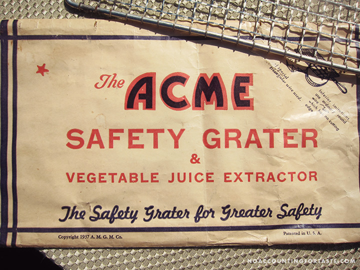 acme safety grater packaging