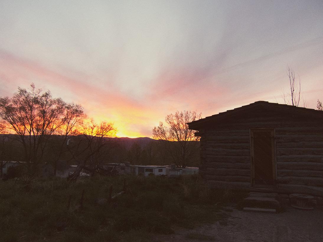 log-cabin-sunset
