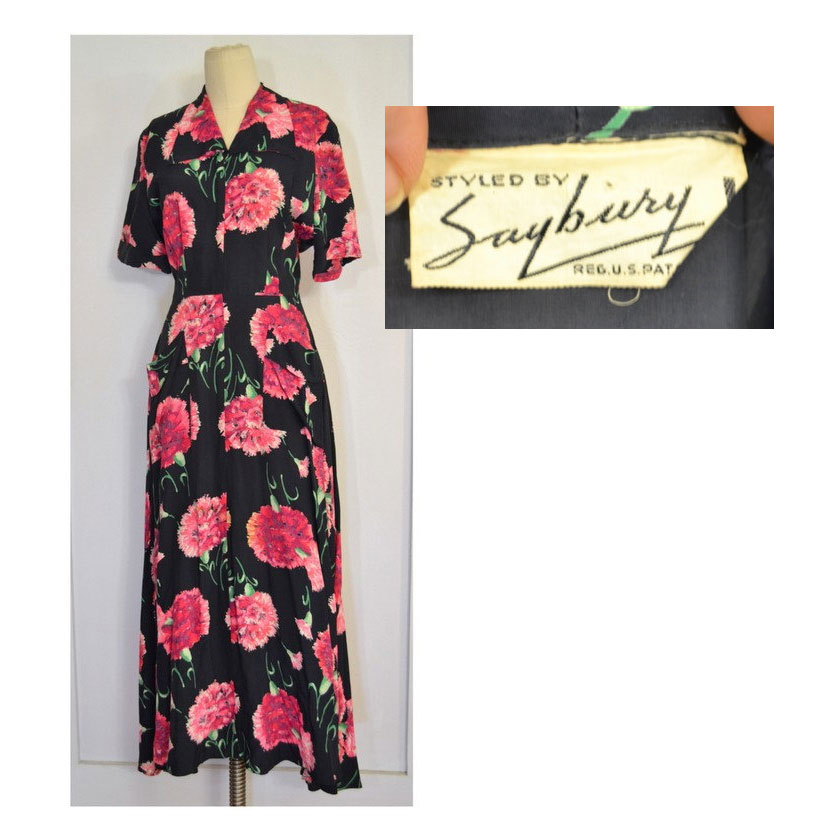 1940s hostess gown, $120 on etsy
