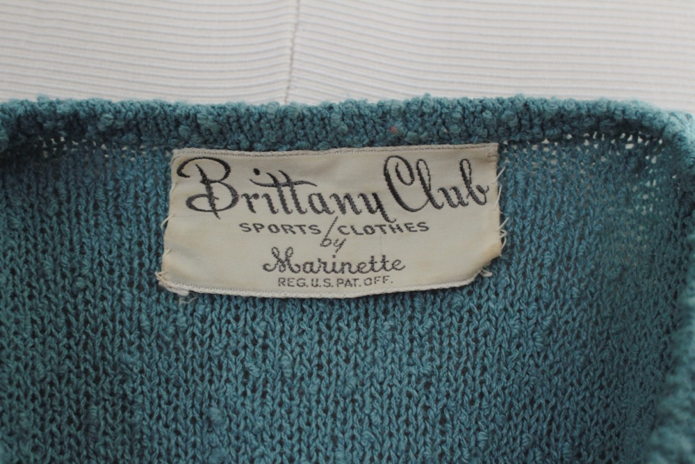 Marinette was a high-end knitwear company in the 1930s and 40s