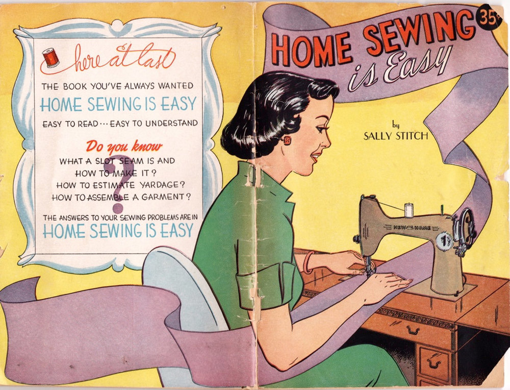 Homemaker Comic Book Home Sewing on Etsy, $75. Either this is a pen name or Sally Stitch was bang-on with her life's calling.