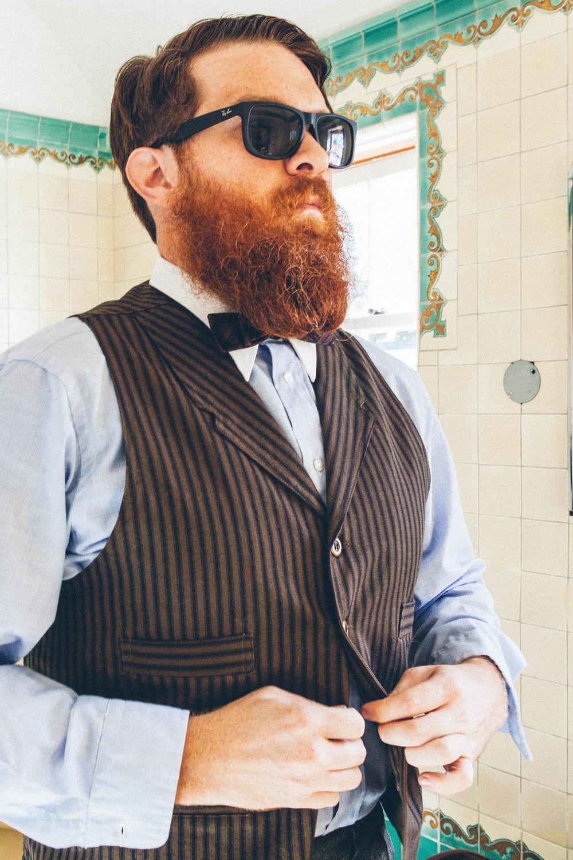 Vintage Dior shirt, reproduction vest.