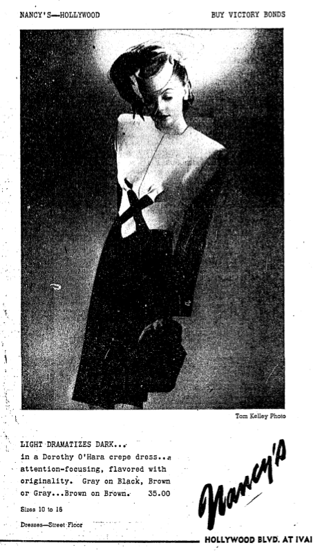Advertisement, Los Angeles Times, September 30, 1945