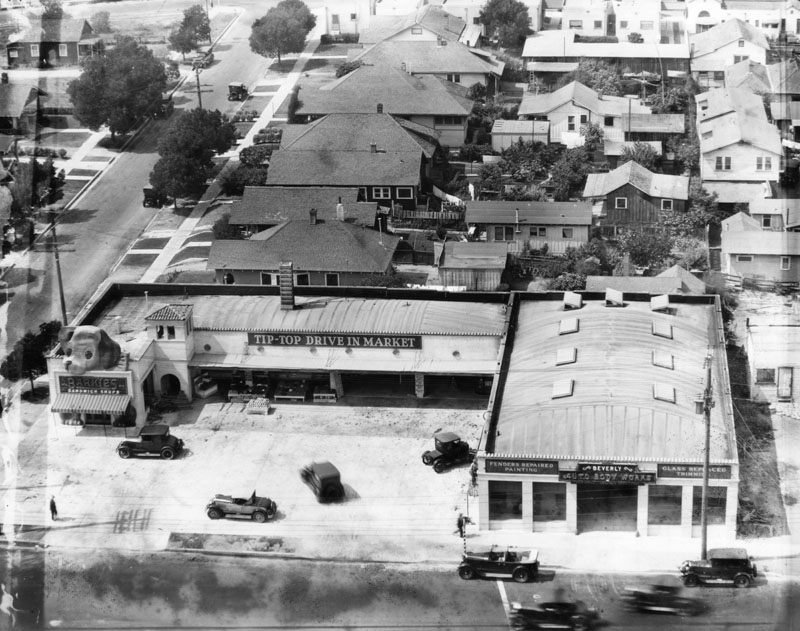 Aerial view of an early