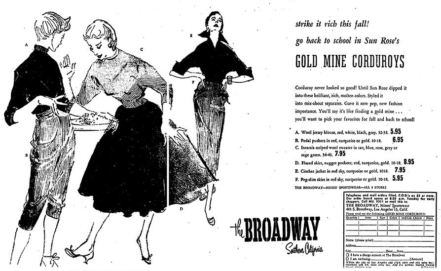 LA Times ad, 1952