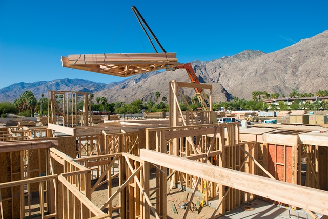 Phase 3 construction begins at Vallera Palm Springs. (photo credit: Daniel Eslinger)