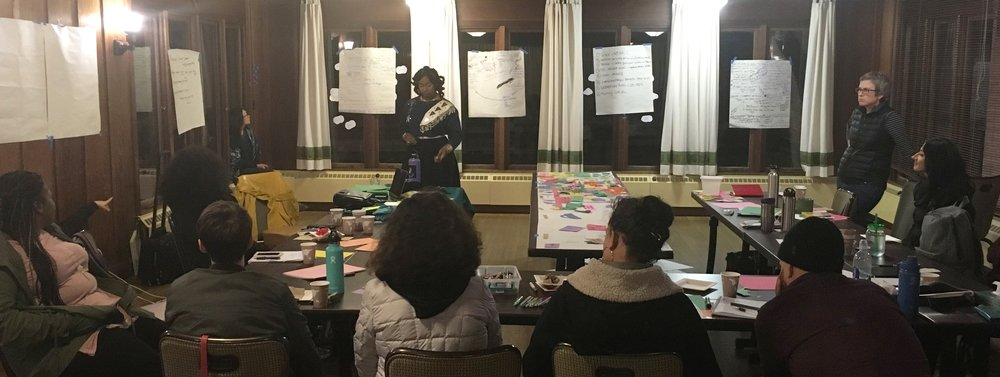 Candice Facilitating a Design Institute in Asilomar, California.