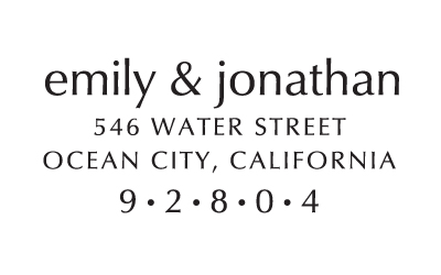 classic family stamp 151 save the date custom stamps embossers