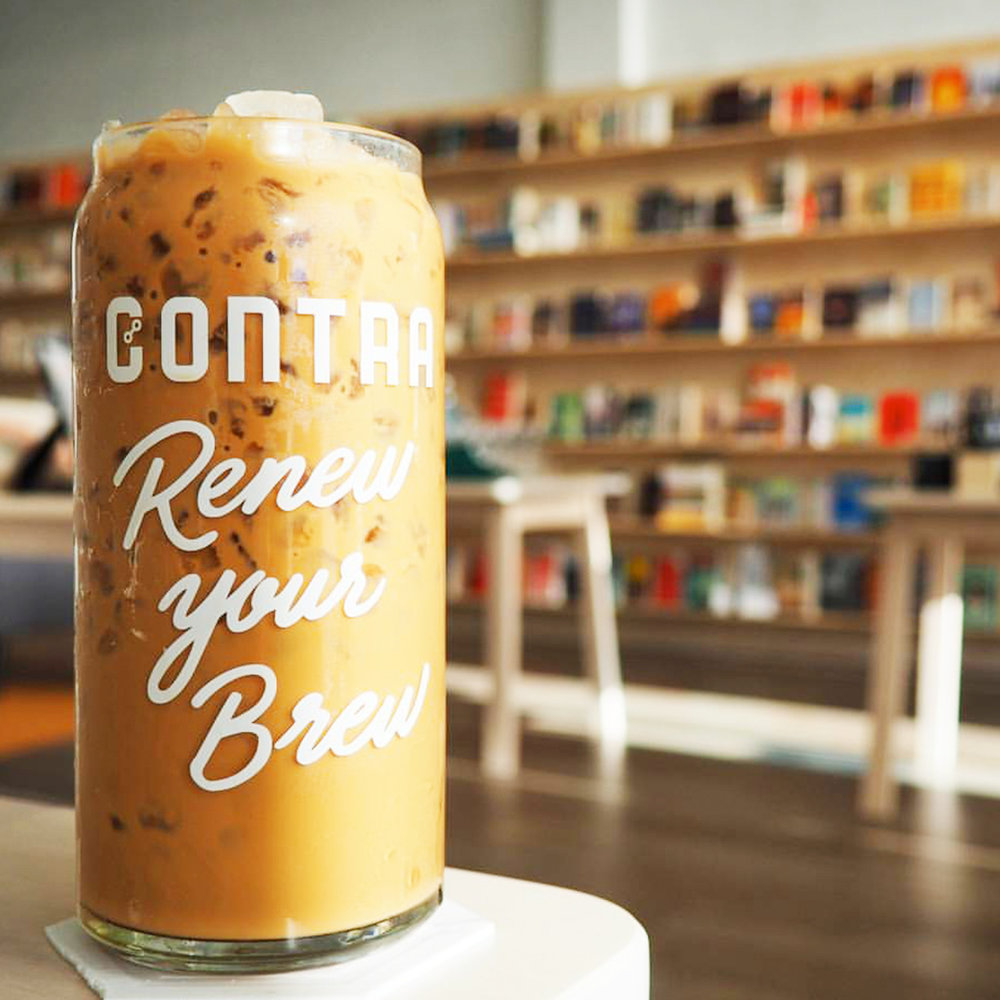 Renew Your Brew Lettering on Glassware