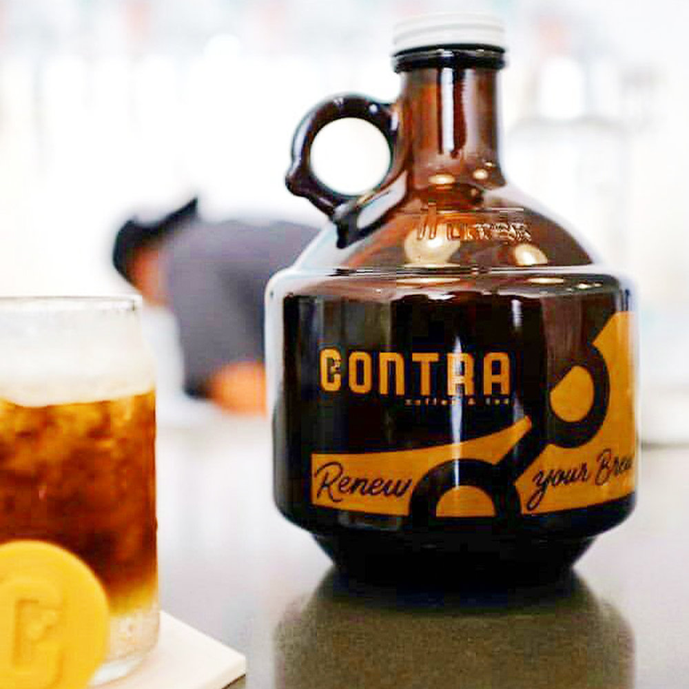 Renew Your Brew Lettering on Growler