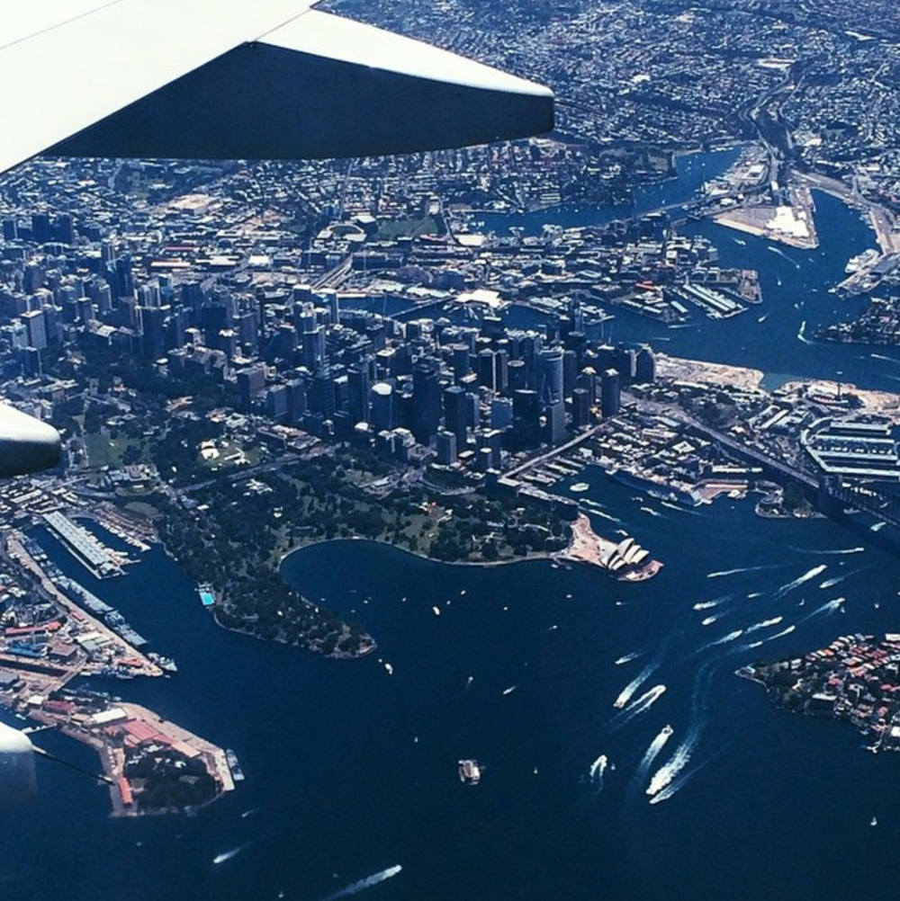 Sydney Harbour aerial view shot on my Iphone