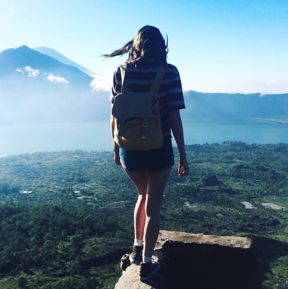 On top of Mount Batur Volcano, Bali