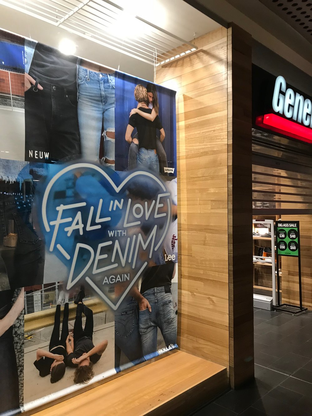 General Pants Co. Denim Window Campaign in all stores around Australia