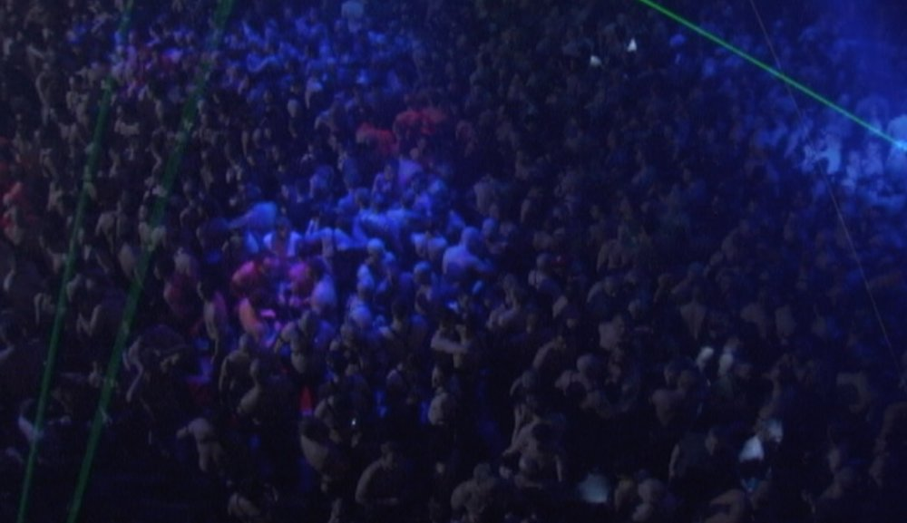 The dance floor at The Black Party, NYC, 2008